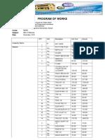 Program of Works Word