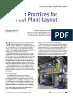 best practice for pilot plant layout