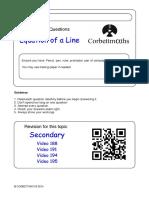 Equation of a Line PDF