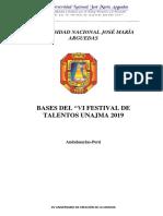 Bases Del Vi Festival de Talentos Arguedianos 2019