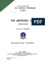 2013 Contoh Soal TAP Akuntansi