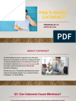 FAQ's about Cataract