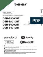 Manual DEH-S5000BT - Pioneer
