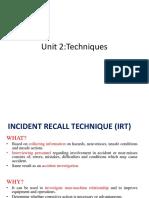 Incident recall technique