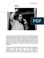85 Años de La Federación Aprista Juvenil - Historia