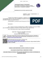 Edital Professor Adjuntos -NORMAS COMPLEMENTARES