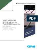 Performances acoustiques des planchers