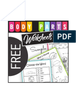 Free Bodyparts Read and Write Worksheets Sample