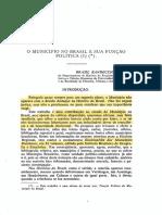 BANDECCHI, Brasil - O Municipio No Brasil e Sua Funcao Politica I