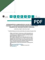 DETERMINACIÓN DE LA CORRELACIÓN EN EL USO DEL CUESTIONARIO DE VANDERBILT Y LA APLICACIÓN DE PRUEBAS NEUROPSICOLÓGICAS PARA EL DIAGNÓSTICO DEL TRASTORNO POR DÉFICIT ATENCIONAL.