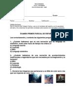 EXAMEN PARCIAL DE ESPAÑOL 4° GRADO