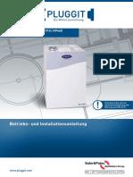 Betriebs und Installationsanleitung Lüftungsanlage Pluggit Avent p190 310 460 deutsch