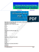 100 Number Series Question PDF