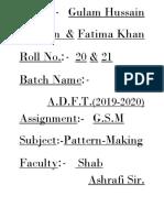 Assignment Gulam Bhai and Fatima Appi