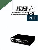 Luxman L-2 Service Manual