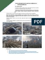Accidentes en Plantas Químicos o Petroquímicas