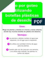 RIEGO POR GOTEO UTILIZANDO BOTELLAS PLASTICAS DE DESECHO 071027
