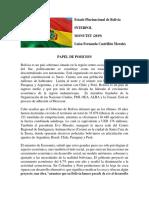 Papel de posicion Bolvia.docx