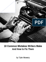 10 Common Mistakes Writers Make and How to Fix Them