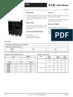 Interuptores Termomagnéticos en Caja Moldeada Tipo CC