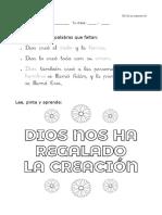 1PRIMUD001 Ficha La Creación 001