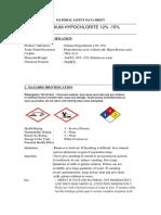 MSDS Chemtech Sodium Hypochlorite 12 15%