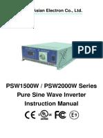 YK-PSW1500w 2000W User Manual