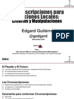 Circunscripciones Para Elecciones Locales Criterios y Manipulaciones