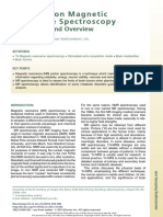 Brain Proton Magnetic Resonance Spectroscopy Introduction and Overview