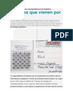Historias Del Ajedrez Por Correspondencia en La Argentina