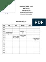 UNEXPO VRP Horario Estudios Generales (Asignaturas Comunes) Lapso 2019-2