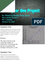 pre-calculus project