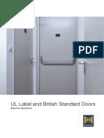 UL Label and British Standard Doors En
