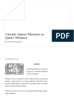 Joseph Osmundson. Circuit. Queer Pleasure as Queer Memory