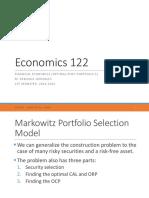 Econ 122 Lecture 13 Optimal Risky Portfolio 2X