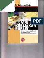 Buku ; Analisis Kebijakan Sosial