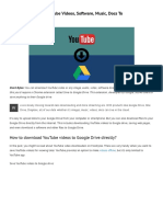 How to Download YouTube Videos, Software, Music, Docs to Google Drive Directly
