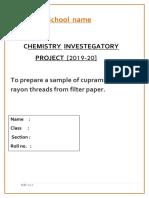 Chem Project RAYON THREAD