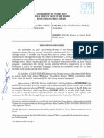 Orden del Negociado de Energía para el aumento en la factura de AEE
