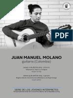 Programa de Mano Juan Manuel Molano Guitarra Colombia 2019