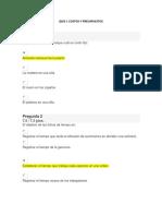 Quiz 1 Costos y Presupuestos - Matematicas - Proceso Adminsitrativo