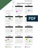 Calendario Laboral a Coruña 2020