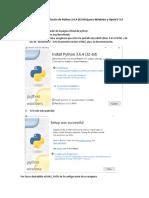 Instalación de Python 3 y Librerias