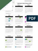 Calendario Labora 2020 Zamora