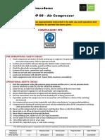 Safe Operating Procedures 08 Air Compressor