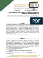CIIdi _Buenas Prácticas en El Analisis de Una Ley Por Métodos Formales
