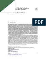 IDEA_Collaborative Filtering Techniques in Recommendation Systems