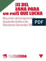 Programa IU 10N - Sintesis