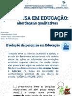 Pesquisa em educação