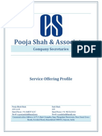 CS Service Offering- Pooja Shah & Associates